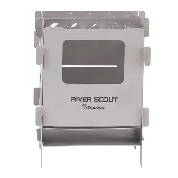 Мультитопливная титановая печь-щепочница  River Scout TS-12t