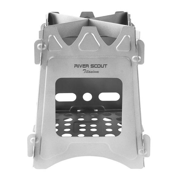 Титановая печь-щепочница River Scout TS-15t